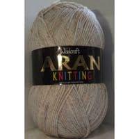 Woolcraft Aran Knitting Yarn 400g With Wool 815 Sandstone